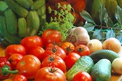 Gemüse betriebsbereit zum Salzen Stockbild