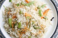 Gemüse-Biryani - ein populärer indischer veg Teller Lizenzfreie Stockfotos