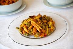Gemüse, das mit Brotkrumen bedeckt lizenzfreie stockfotos