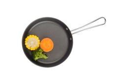 Gemüse in der Bratpfanne Stockfotos