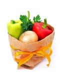 Gemüse in der Tasche stockfoto