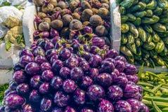Gemüse in einem chinesischen nassen Markt in Singapur lizenzfreie stockfotos