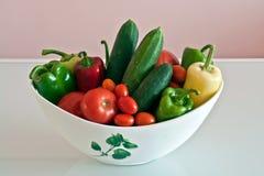 Gemüse in einem Glas Stockfotografie