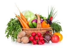 Gemüse in einem Korb Lizenzfreies Stockfoto
