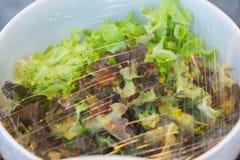 Gemüse in einer Glasschüssel Stockbilder