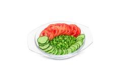 Gemüse in einer Glasschüssel Lizenzfreies Stockbild