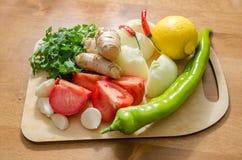 Gemüse für Chutneysoße lizenzfreie stockfotos