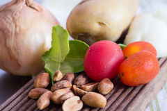 Gemüse für Mussaman-Curry Stockfoto