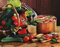 Gemüse für ratatouille Stockbild