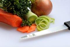 Gemüse für Suppe Stockfoto