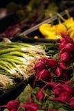 Gemüse für Verkauf im Speicher Stockfoto