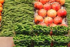 Gemüse für Verkauf am lokalen Markt Stockbilder
