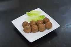 Gemüse-fishball für Dampfschiff Stockfotos