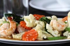 Gemüse gebratene Garnele Stockfotos