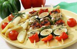Gemüse gegrillt Stockfotos