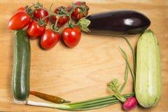 Gemüserahmen Stockfoto