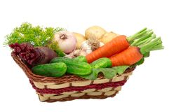Gemüse getrennt auf einem whiteground. Stockbild