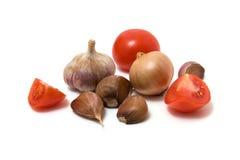 Gemüse getrennt auf Weiß Lizenzfreies Stockfoto