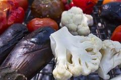 Gemüse grillte Aubergine lizenzfreie stockbilder