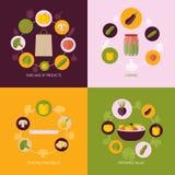 Gemüse-Ikonen-Ebenen-Satz stock abbildung
