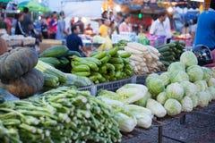 Gemüse im Frischmarkt der Landschaft, Thailand Lizenzfreie Stockfotografie