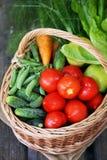 Gemüse im Großen Korb Stockfotografie