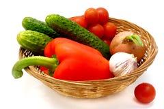 Gemüse im Korb Lizenzfreie Stockfotografie