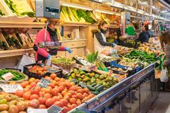 Gemüse im Markt Stockfotos
