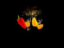 Gemüse im Wasser Stockfoto