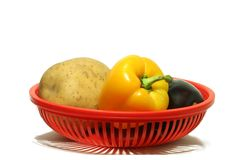 Gemüse in Korb 4 lizenzfreies stockbild