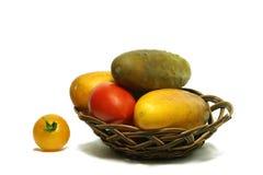 Gemüse in Korb 3 lizenzfreie stockfotografie