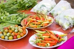 Gemüse an lokale Märkte Stockfotos