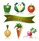 Gemüse lustig und gesund Stockfotos