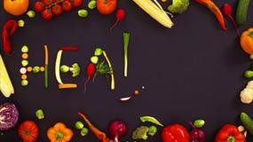 Gemüse machte Wort gesund stock video footage