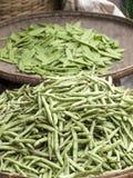 Gemüse, Markt im Freien, Stangenbohnen lizenzfreie stockfotografie