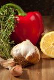 Gemüse mit dem Kraut Stockfotografie