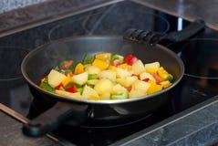 Gemüse mit Kartoffeln Stockfotos