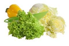 Gemüse mit Messer Lizenzfreie Stockbilder