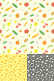 Gemüse-nahtloses Muster Lizenzfreie Stockfotografie