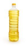 Gemüse oder Sonnenblumenöl in der Plastikflasche   Lizenzfreie Stockbilder