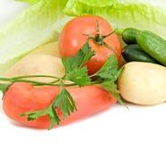 Gemüse prepard für Salat Lizenzfreie Stockfotografie