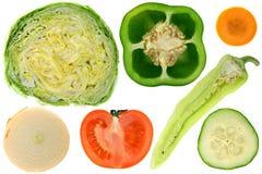 Gemüse, Querschnitts stockfotos