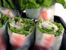 Gemüse rollen-schließt-oben Lizenzfreie Stockbilder
