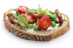 Gemüse-tartine Lizenzfreie Stockfotografie