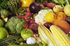 Gemüse u. Früchte Stockfotografie