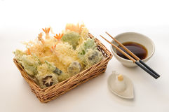 Gemüse u. Garnele Tempura à la carte Lizenzfreies Stockfoto