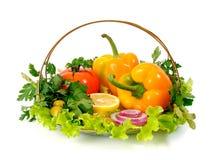 Gemüse u. Zitrone lizenzfreies stockfoto