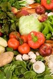 Gemüse und Äpfel Stockfoto