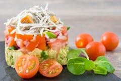 Gemüse und Babyaal- oder -aalweinstein Lizenzfreie Stockbilder