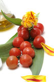 Gemüse und Blume Stockfoto
